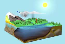 Layered Earth Meteorology Middle School/High School Water Cycle Animation